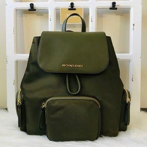 MK Abbey Large Nylon Cargo Backpack